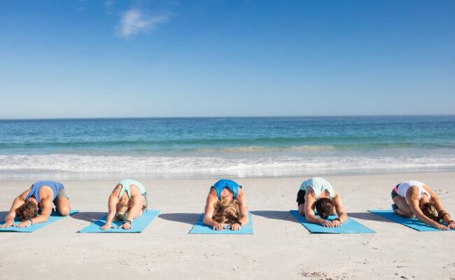 Beach yoga - Athens riviera